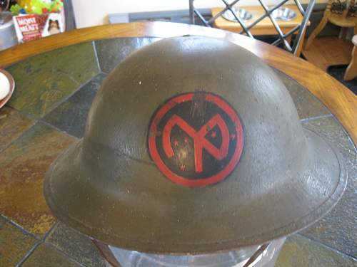 Click image for larger version.  Name:WWI Helmet 001.jpg Views:103 Size:238.8 KB ID:62459