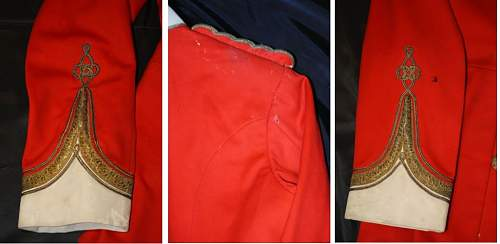 41st Welsh regiment officers red tunic