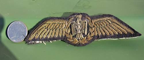 Gold Bullion Cloth Pilots wings
