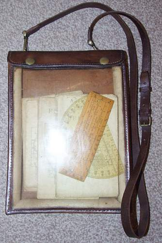 1918 dated leather map case