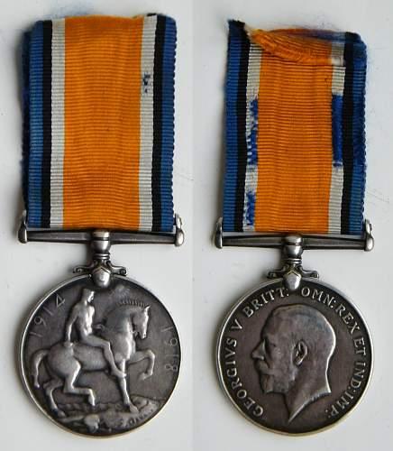 British war medal, Welsh regiment Perivate Ibell