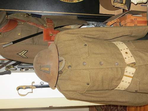 WWI 77TH DIV. Helmet and jacket