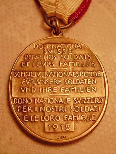 WWI Swiss Donation Medal.........