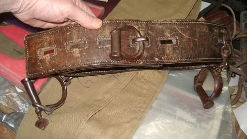 Rare WW1 or earlier Military marked restraints