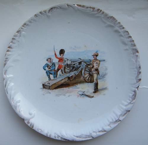 Boer war plate