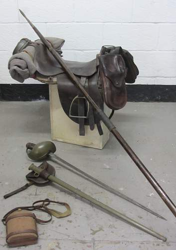 1915 dated british cavalry troopers saddle and equipment display