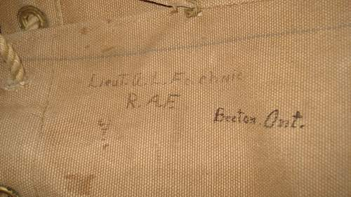 RFC RAF Canadian Officers Bed Roll and Bag