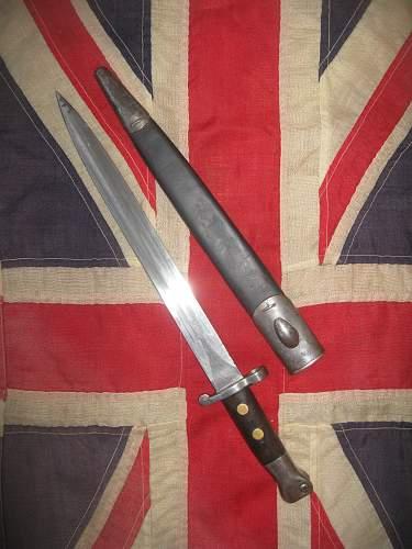 """N"" Marked 1888 Bayonet"