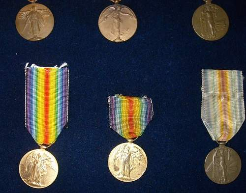 WWI victory medal collection