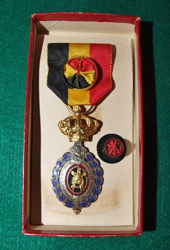Belgian medal. A prime example of why you should know your stuff.