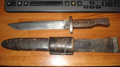 Very nice PROPER Canadian ROSS Trench Knife