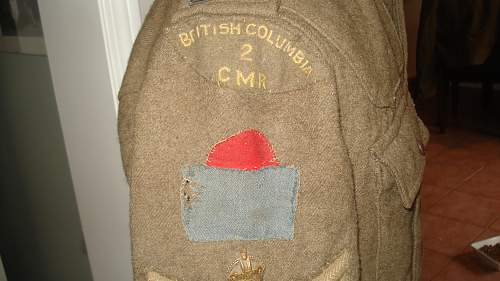 """My """"NEW"""" WW1 2 Canadian Mounted Rifles Tunic with all insignia"""
