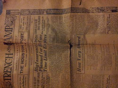 WWI Soldier Newspapers.
