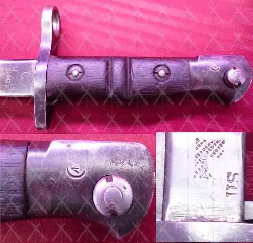 A Canadian Marked U.S. M-1917 Bayonet?