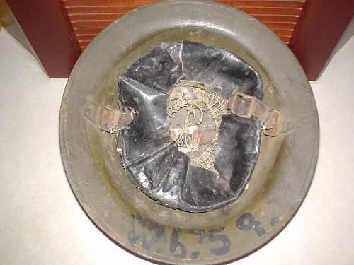 WWI US 89th Div. 314 Sanitary Train Helmet