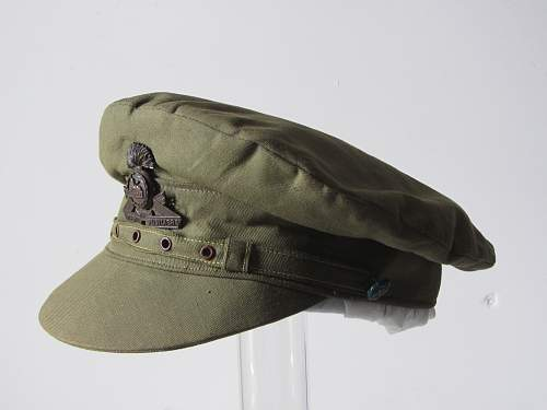 WW1 Lancashire Fusileer officers lightweight cotton trench cap