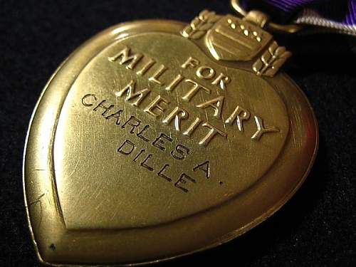 BB&B Purple Heart # 366, Sgt. Charles A. Dille 28th Div. Co. K, 110th Inf. WWI