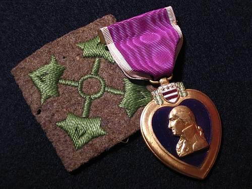 American Emblem Purple Heart # 51387, Cpl. Norman K. Clapp 4th. Div. Co. B, 39th Inf. WWI