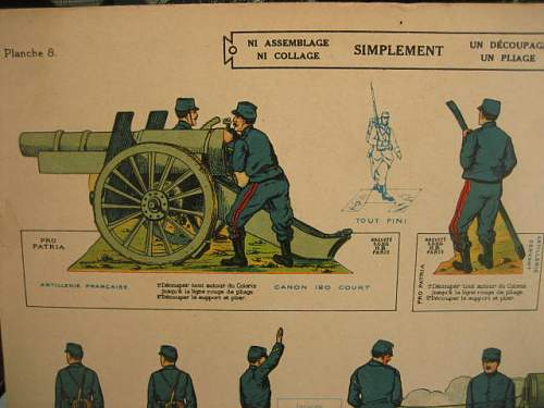 WWI French Toy soldiers