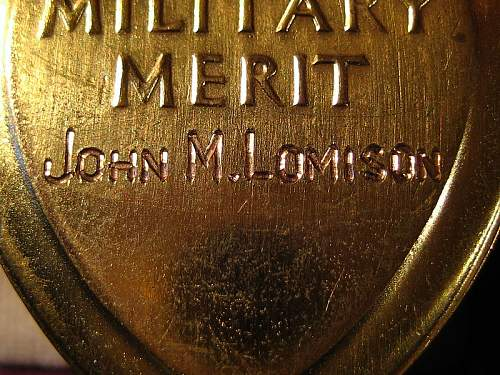 WWI Double Purple Heart Recipient Sgt. John Moore Lomison, March 21, 1892 - May 11, 1992