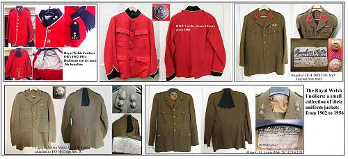 RWF OR's scarlet home service tunic 1902 pattern