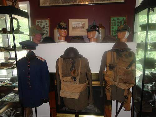 WW1 Canadian and German Uniforms and Lids