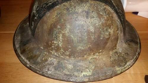 British Mk1 helmet hand painted
