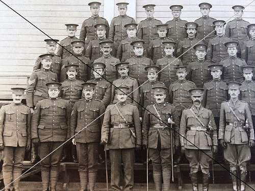 "WWI Calagary 56th Battalion C.E.F. ""Sergemts Group Photo"""