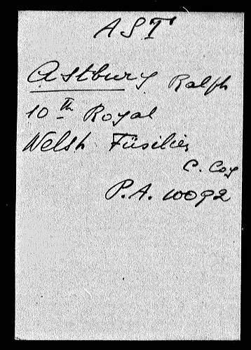 1914 15 star medal Pte. R. Astbury R. Welsh Fusiliers