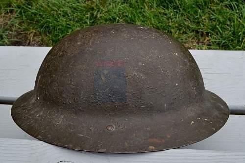 WW1 CEF 5th Brigade HQ Brodie Helmet