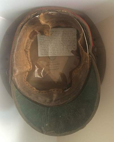 WWI Staff officers forage cap