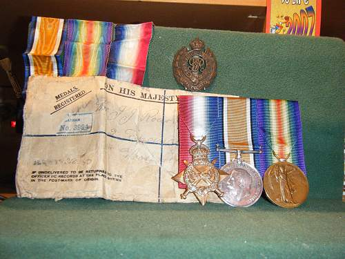 Click image for larger version.  Name:WWI Campaign Medals (2) JJ O'Rourke.jpg Views:390 Size:248.5 KB ID:73994