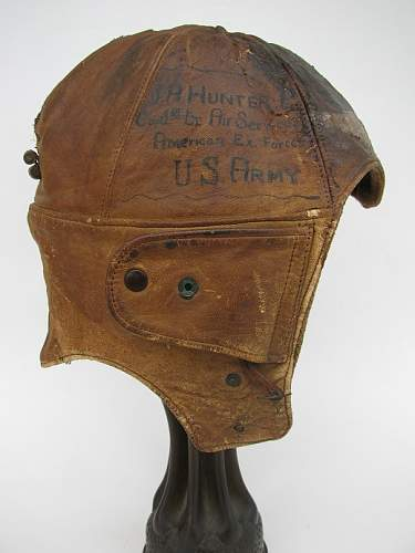 Named, Painted WWI US Flight helmets