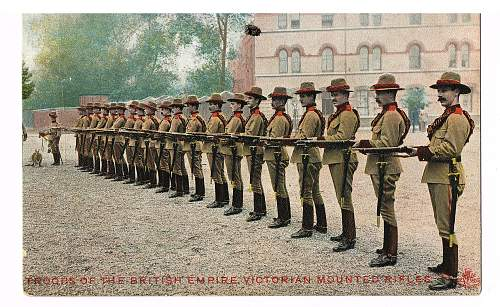 Victorian mounted rifles postcard