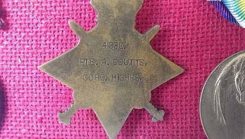 WWI British Medal group - Named