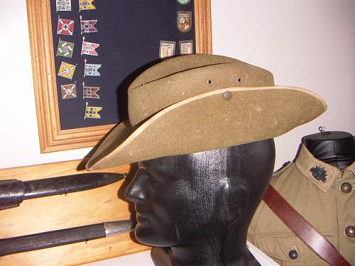 Click image for larger version.  Name:WW2 Australian Slouch hat Unmarked 2.jpg Views:117 Size:252.3 KB ID:744827