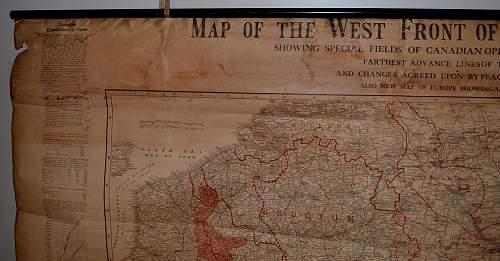 WW1 CEF Western Front Map