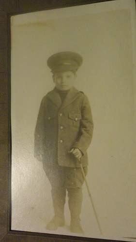 Child in WW1 Canadian or British Uniform