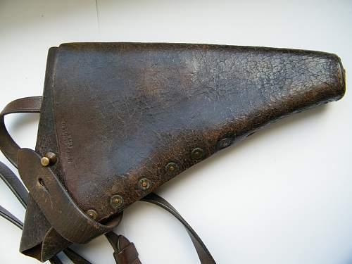 British Shoulder holster rig 1915