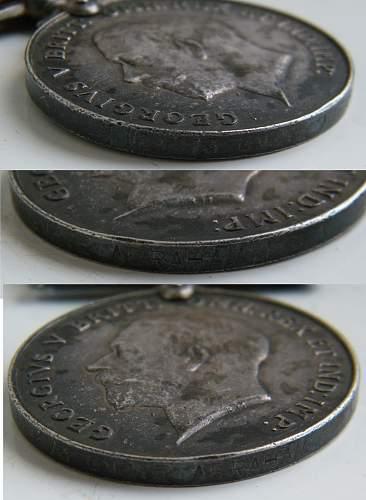 Interesting Silver war medal RA/RWF