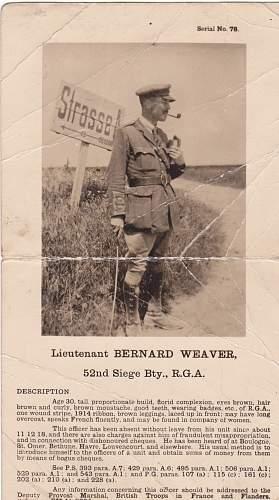 The dastardly Lieutenant Bernard Weaver..