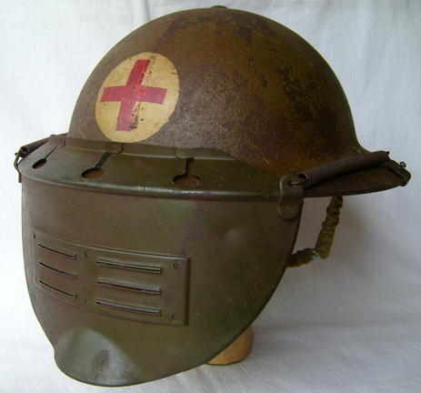 us m1917 helmet with 3 drill holes on each sides