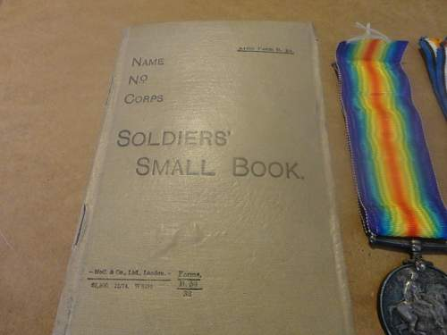 WW1 British Pair, Memorial Coin and book, I saved it from being lost!