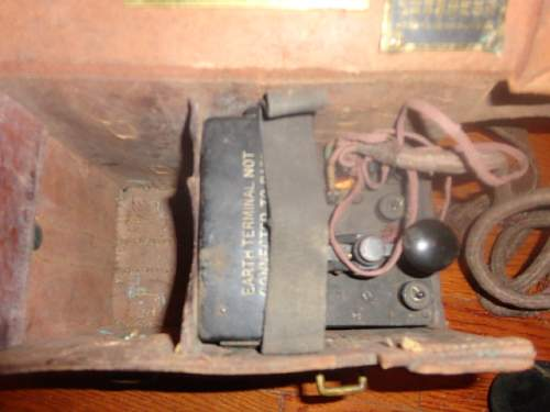 1917 British Trench Phone and morse key