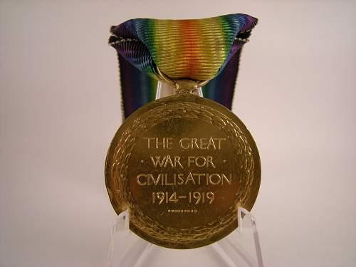 Click image for larger version.  Name:WW1 victory medal, Joseph Matthias, 10th battalion K.R.RIF.C.  (2).jpg Views:11 Size:336.4 KB ID:776441