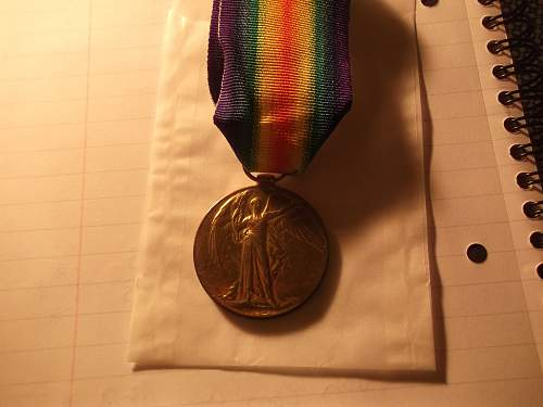 Victory Medal To A N Scrivener, Lancashire Fusiliers.