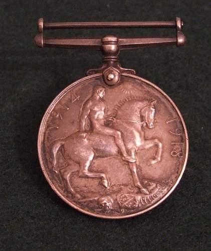 Interesting 1914-18 war medal