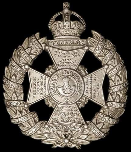 Click image for larger version.  Name:rifle_brigade_cap_badge.JPG Views:69 Size:55.0 KB ID:795112