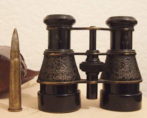 The binoculars of Pte Sam Eastman of the 2nd Battalion, the Monmouthshire's