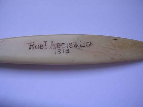 WWI toothbrushes